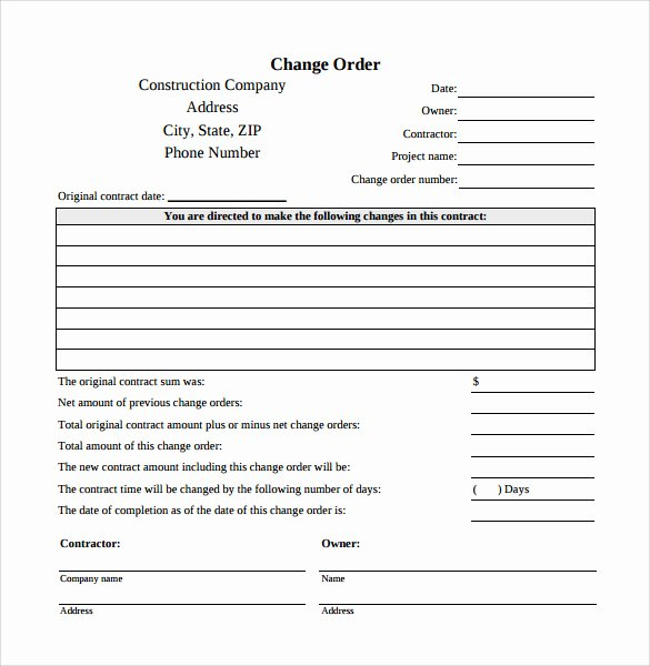 Change order forms Template Beautiful Change order Template 8 Things You Should Do In Change