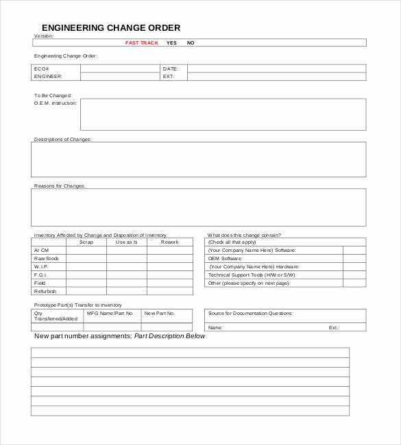 Change order forms Template Luxury 24 Change order Templates Word Pdf Google Docs