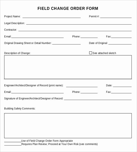 Change order forms Template Luxury What is A Change order — Cummins Architecture