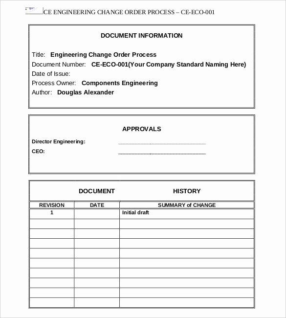 Change order Template Excel Luxury Rolling Rota Template