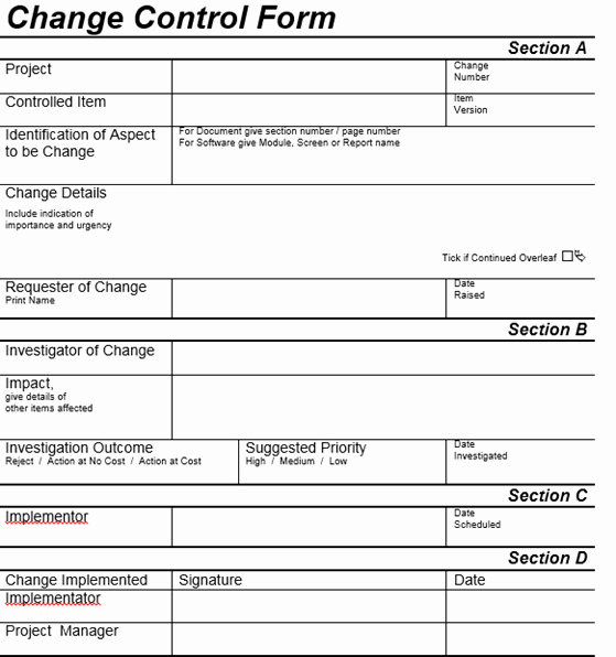 Change Request forms Templates Luxury Change Control Process Tutorial