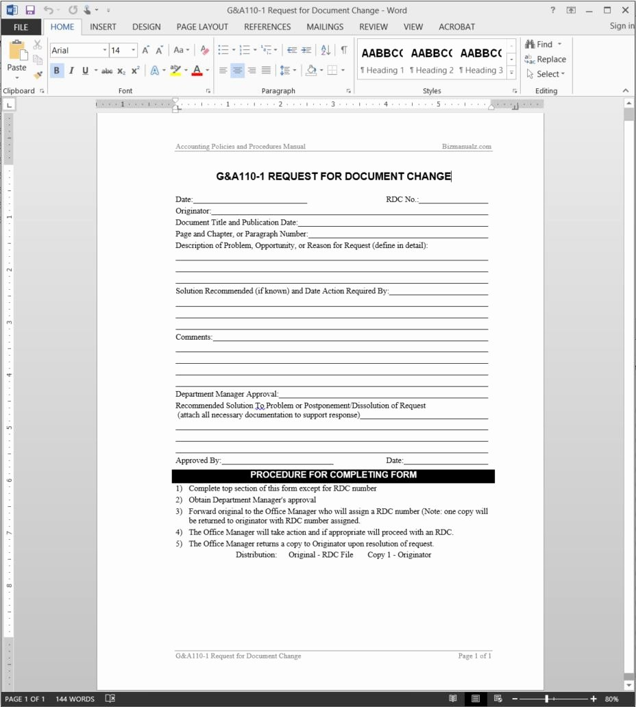 Change Request forms Templates Luxury Document Change Request Template