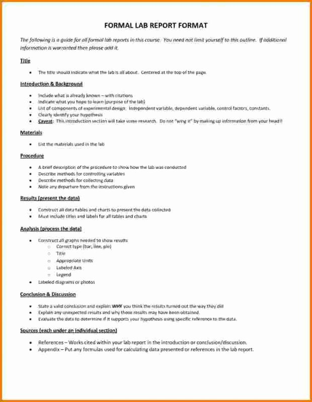 Chemistry Lab Report Template Elegant Chemistry Lab Report Template