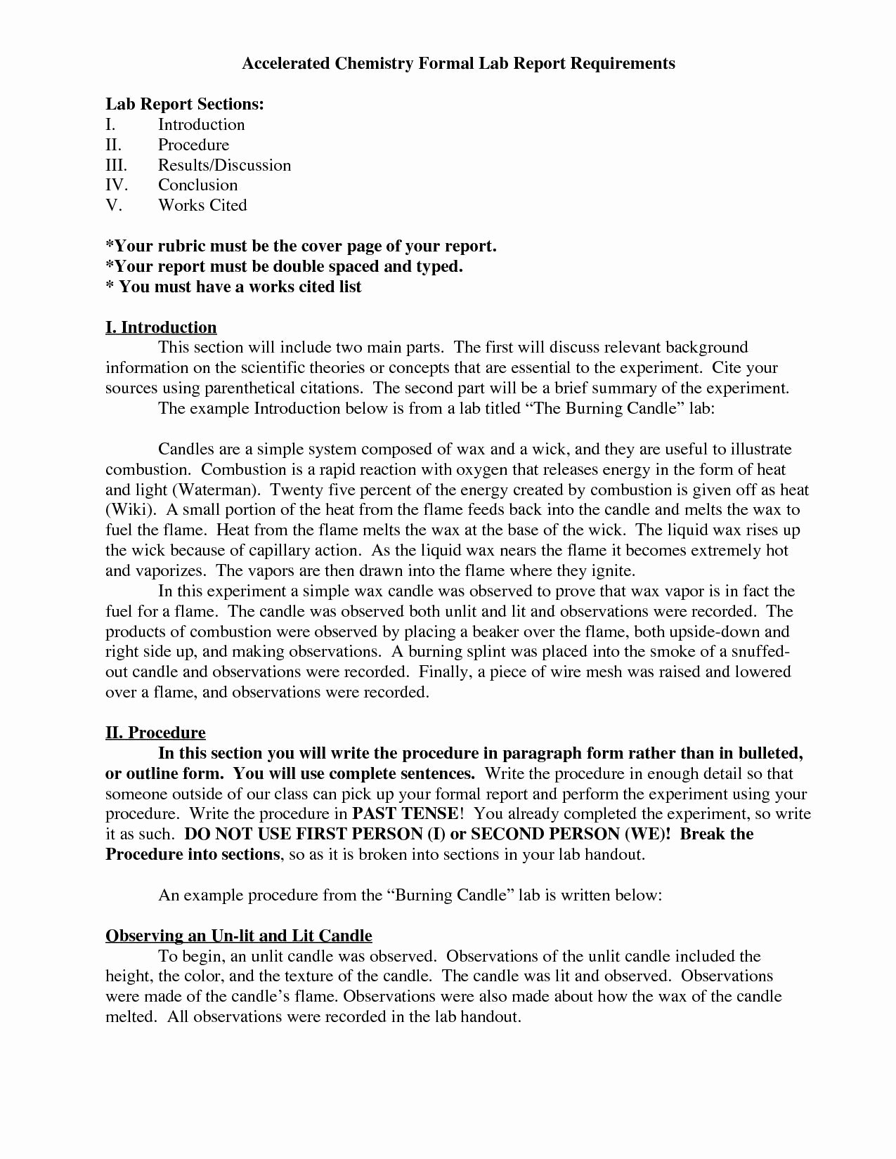 Chemistry Lab Report Template Inspirational 6 Lab Report Template Word