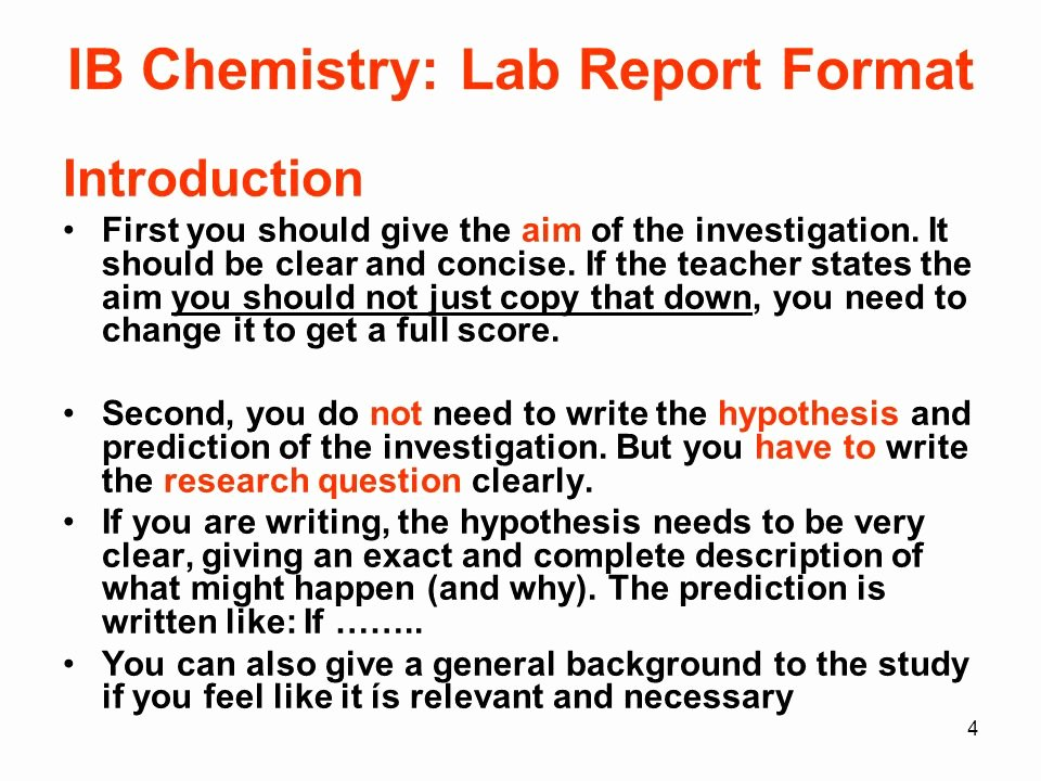 Chemistry Lab Report Template Inspirational assessment In the Diploma Program Ppt Video Online