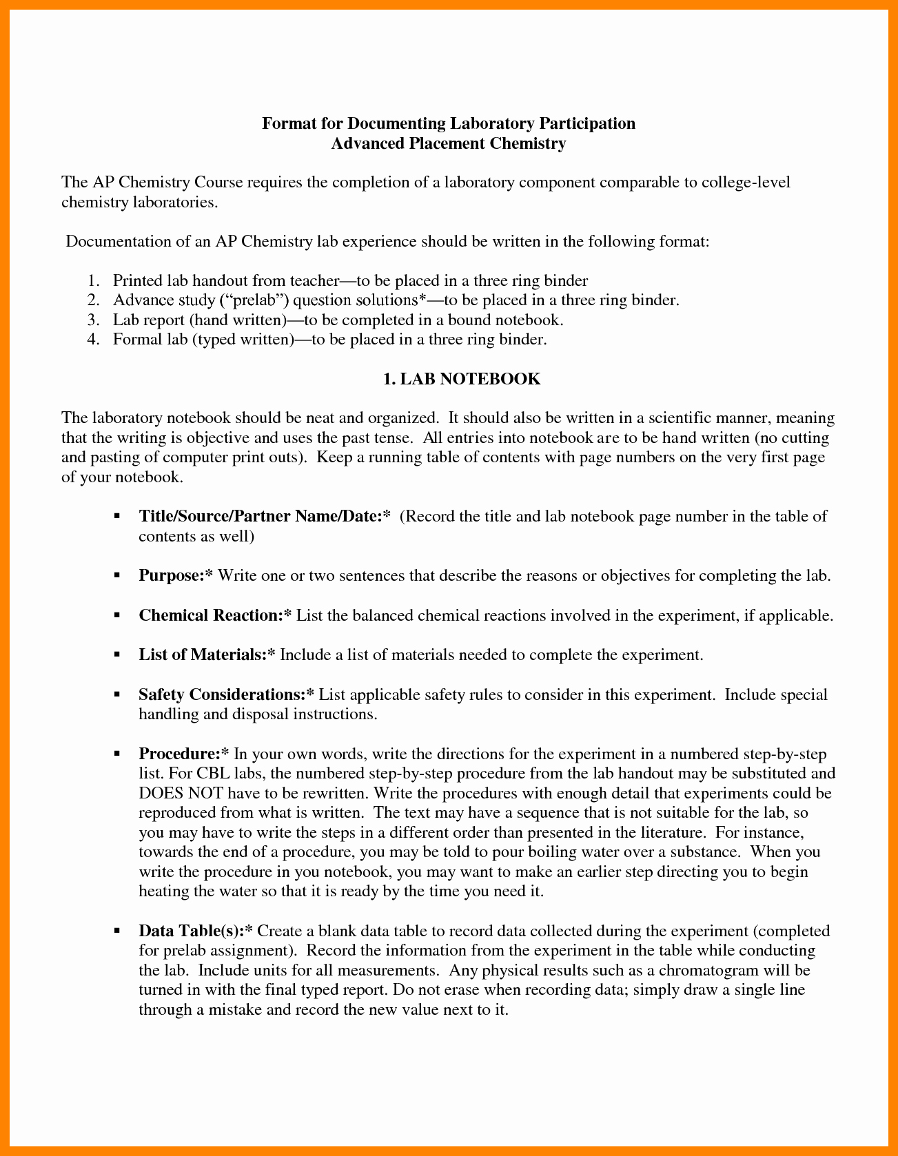 Chemistry Lab Report Template Luxury 6 formal Lab Report Example Chemistry