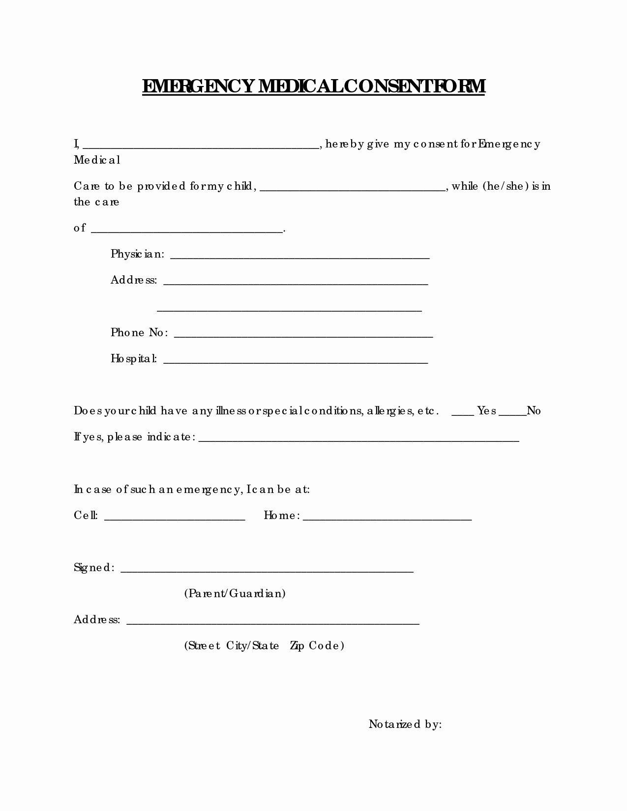 Child Medical Consent form Template Best Of Medical Consent Letter for Grandparents Template