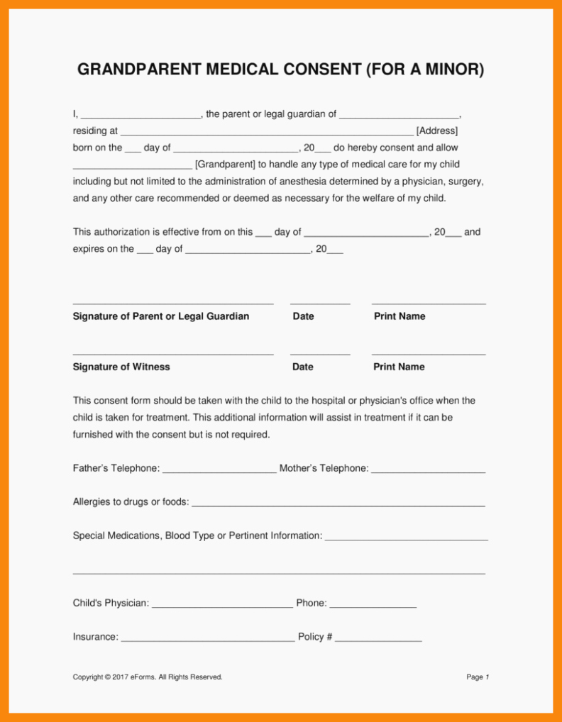 Child Medical Consent form Template Unique Here S why You Should