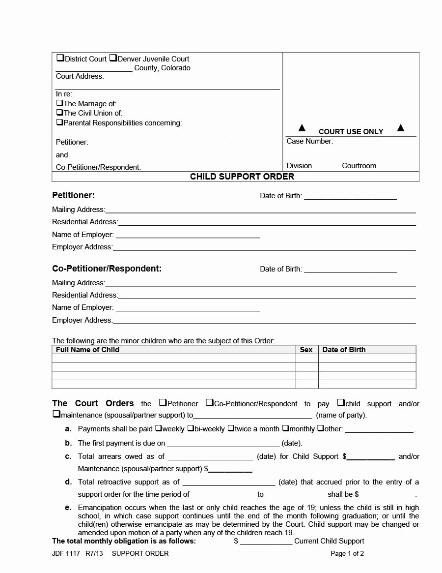 Child Support Agreement Template Elegant 32 Free Child Support Agreement Templates Pdf & Ms Word