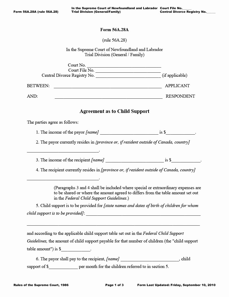 Child Support Agreement Template Luxury 32 Free Child Support Agreement Templates Pdf & Ms Word