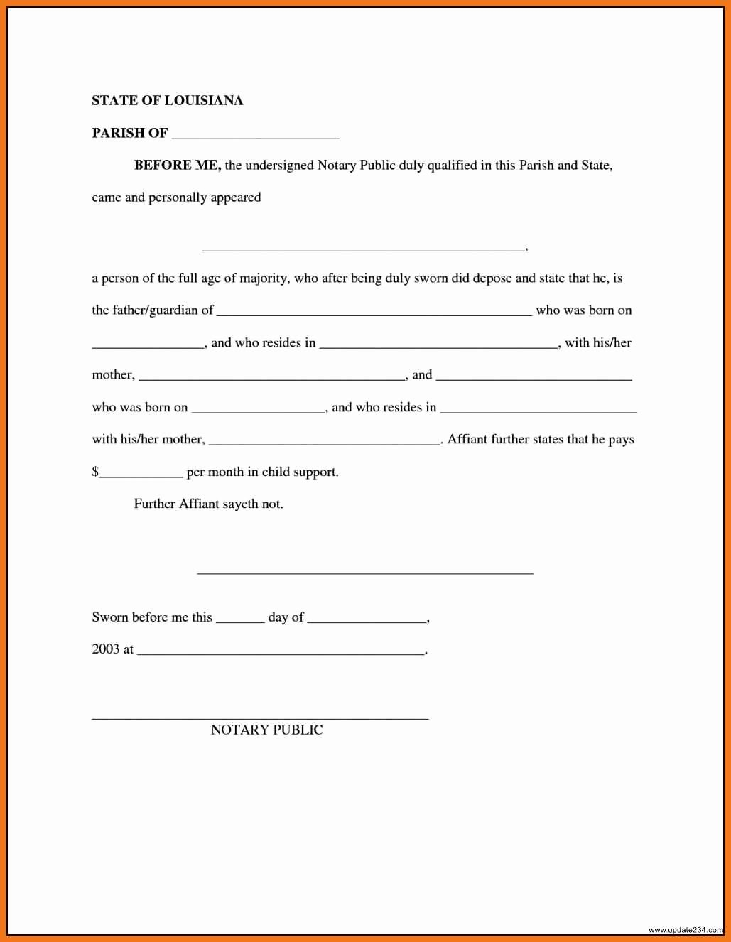 Child Support Agreement Template Unique 4 5 Child Support Agreement Letter