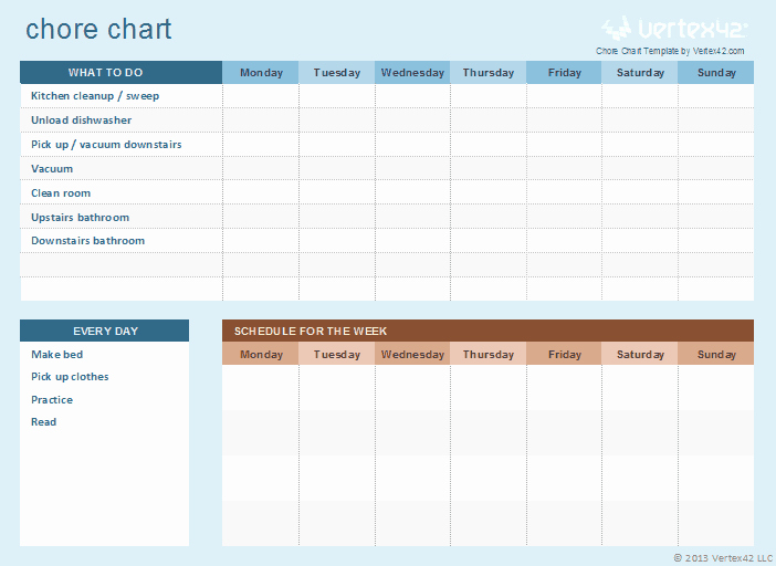 Chore Chart Template Excel Lovely Book Reports Research Reports Teaching Materials Page