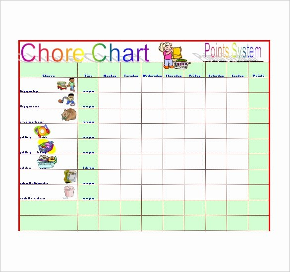 Chore Chart Template Excel Lovely Chore List Template – 10 Free Sample Example format