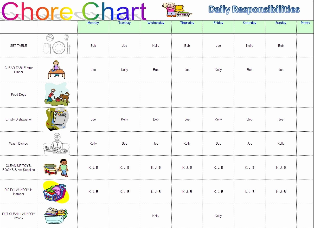 Chore Chart Template Excel Luxury Working Mom Into Supermom Chore Charts