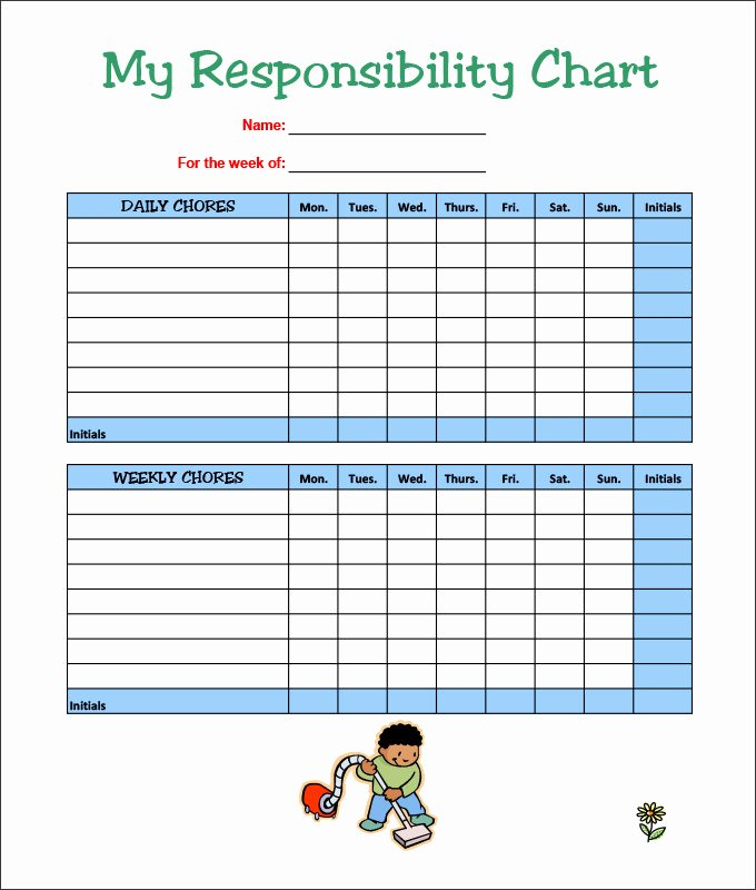 Chore Chart Template Word Elegant Chore Chart Template Excel – Bulat