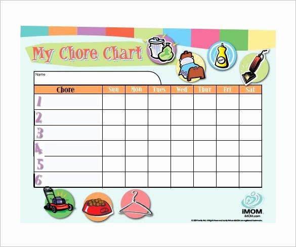 Chore Chart Template Word Elegant Weekly Chore Chart Template 11 Free Word Excel Pdf