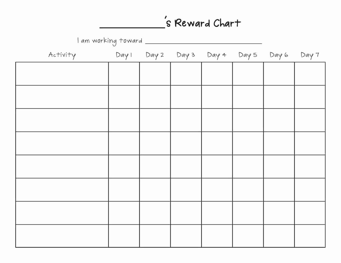 Chore Chart Template Word Inspirational Reward Chart Templates