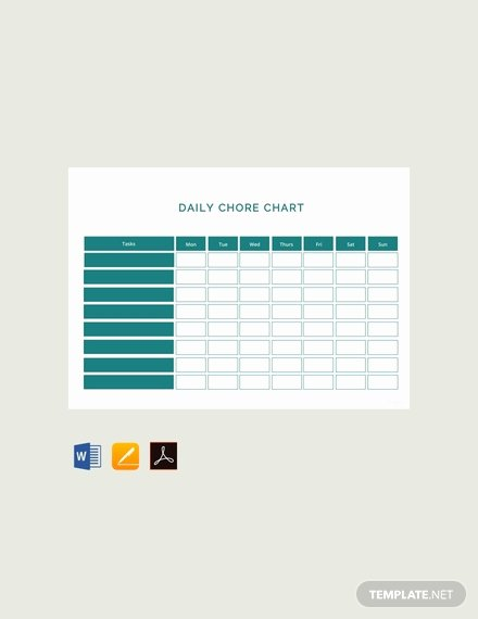 Chore Chart Template Word Luxury Free Blank Chore Chart Template Download 166 Charts In