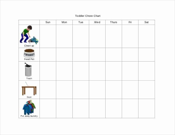 Chore Chart Template Word Luxury How to Make Good Schedule Using 5 Chore List Template Types
