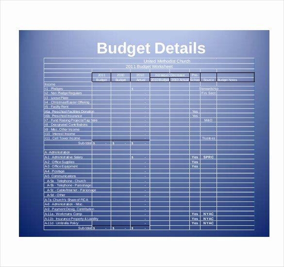 Church Budget Template Excel Elegant 15 Church Bud Templates Docs Excel Pdf