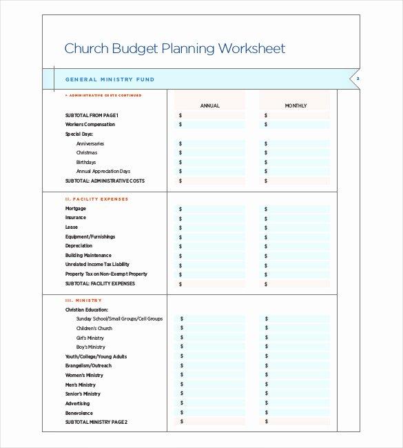 Church Budget Template Excel Inspirational 15 Church Bud Templates Docs Excel Pdf