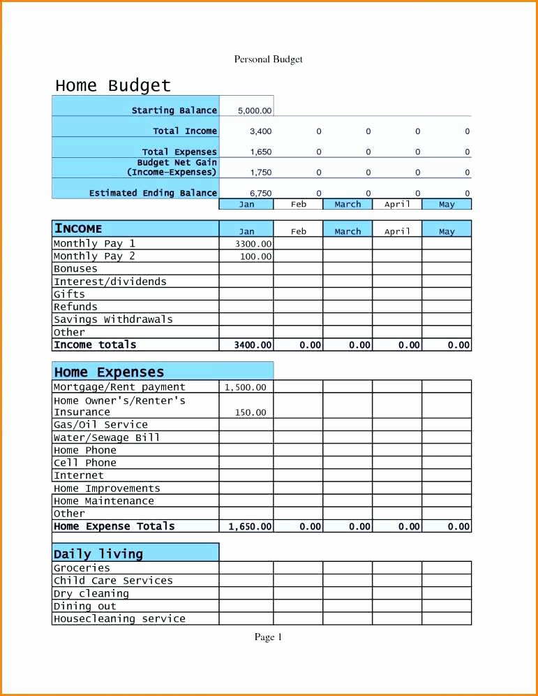Church Budget Template Excel New 13 14 Personal Bud S Templates