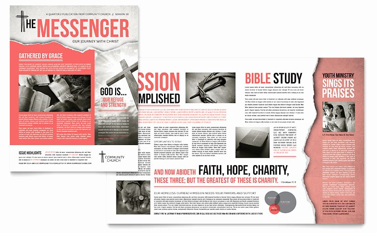 Church Bulletin Templates Microsoft Publisher Awesome Bible Church Newsletter Template Word & Publisher