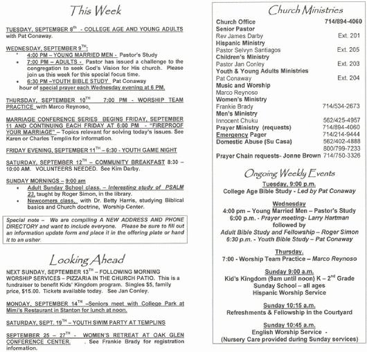 Church Bulletin Templates Microsoft Publisher Elegant Church Bulletins Church Bulletin Programs