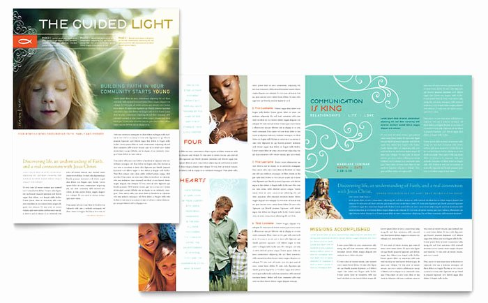 Church Bulletin Templates Microsoft Publisher Lovely Christian Church Religious Newsletter Template Design