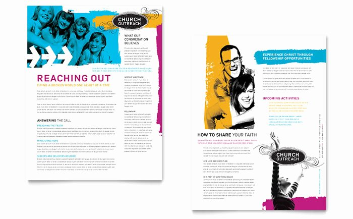 Church Bulletin Templates Microsoft Publisher Luxury Creative Church Bulletins & Christian Newsletters