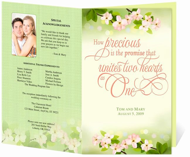 Church Bulletin Templates Microsoft Publisher Luxury Letter Single Fold Cherry Wedding Program Templates