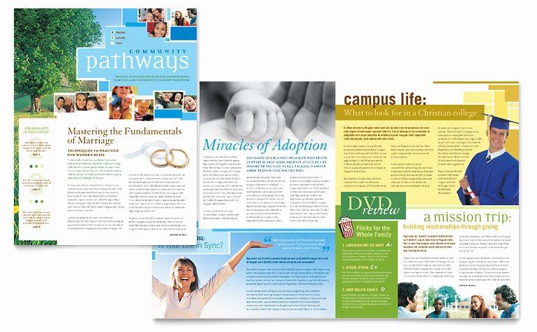 Church Bulletin Templates Microsoft Publisher Luxury Munity Church Newsletter Template Word & Publisher