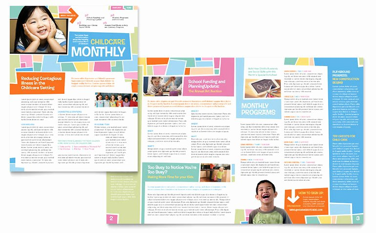 Church Bulletin Templates Microsoft Publisher Unique Preschool Kids & Day Care Newsletter Template Word