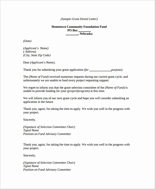 Claim Denial Letter Template Beautiful Sample Denial Letter 8 Free Documents Download In Word Pdf