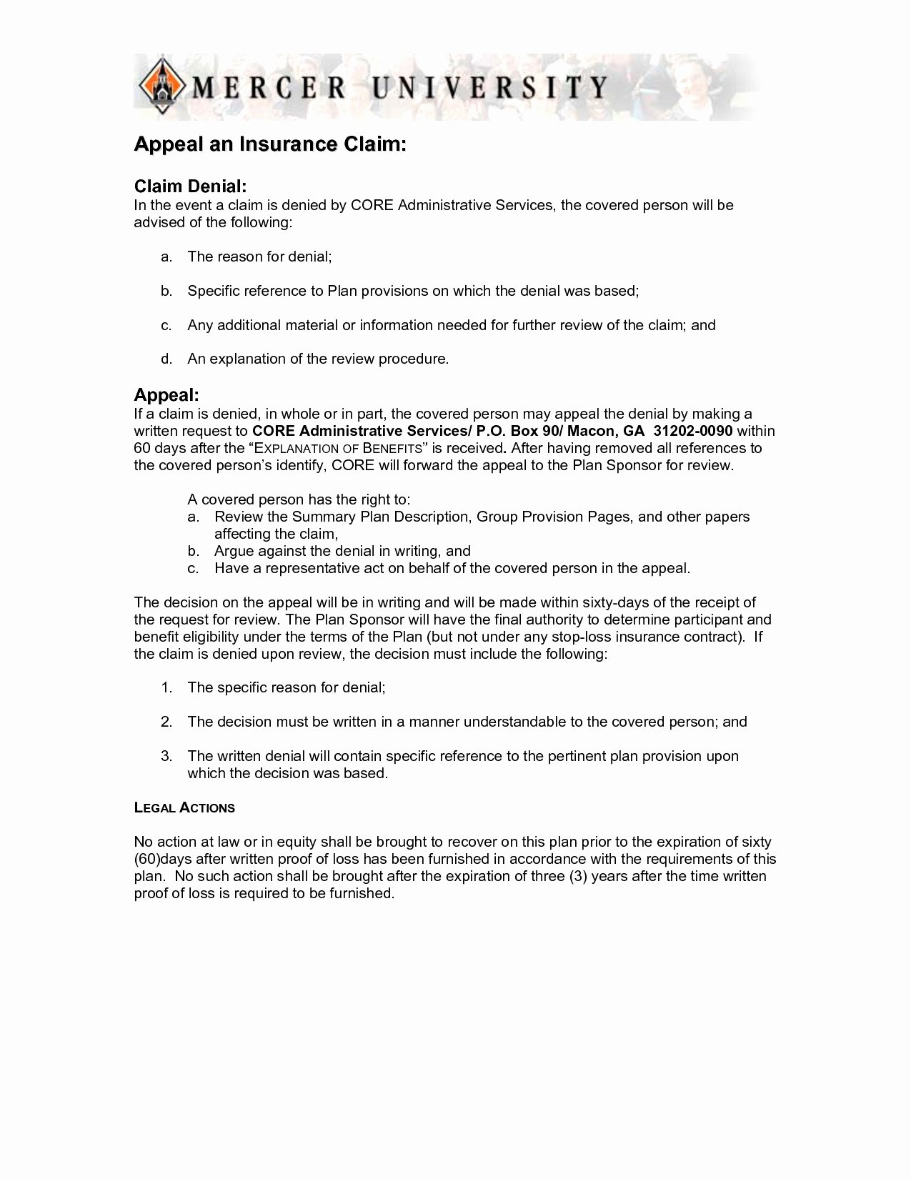 Claim Denial Letter Template Best Of 1 2 Appeal Letter Template