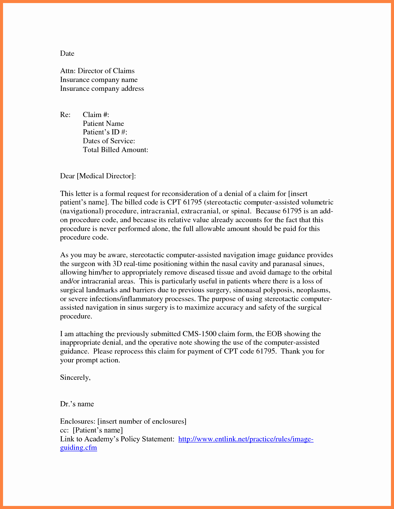 Claim Denial Letter Template Best Of Appeal Letter Insurance Pany Sample Template Health