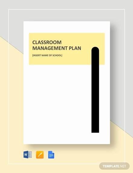 Classroom Management Plan Template Best Of Sample Classroom Management Plan Template 12 Free