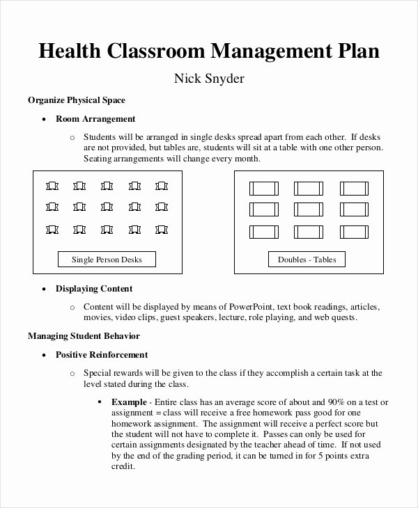Classroom Management Plan Template Lovely 11 Classroom Management Plan Templates Free Pdf Word