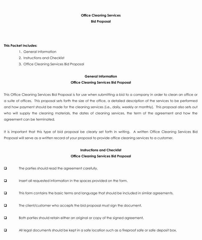 Cleaning Bid Proposal Template Awesome Bid Proposal Templates 8 Samples to Write Better Proposals