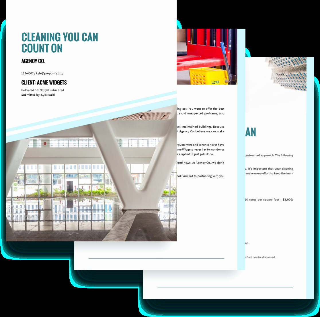 Cleaning Bid Proposal Template Elegant Cleaning Services Proposal Template Free Sample