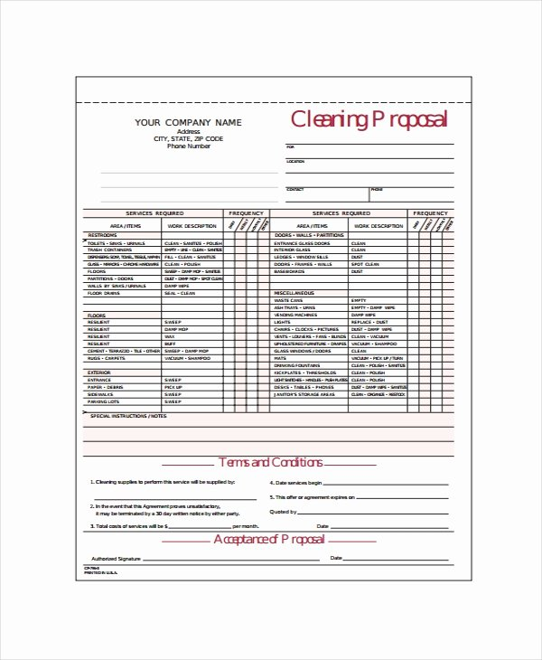 Cleaning Bid Proposal Template Inspirational 15 Cleaning Proposal Templates Word Pdf Apple Pages