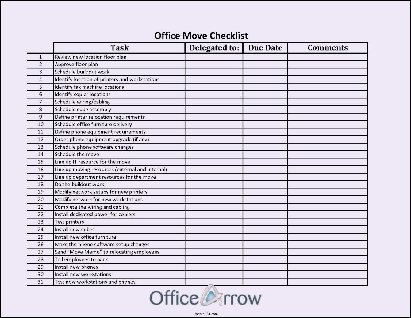 Cleaning Checklist Template Excel Beautiful Housekeeping Checklist format for Fice In Exce