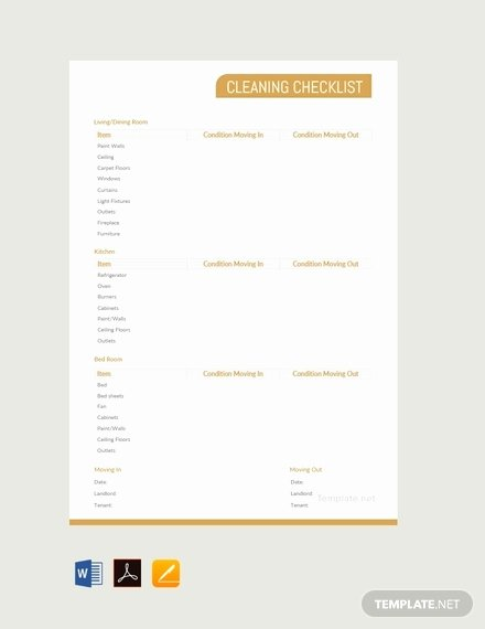 Cleaning Checklist Template Excel Best Of Cleaning Checklist Template 38 Word Excel Pdf