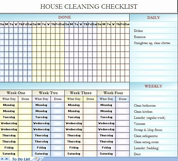 Cleaning Checklist Template Excel Best Of Cleaning Checklist Template Excel