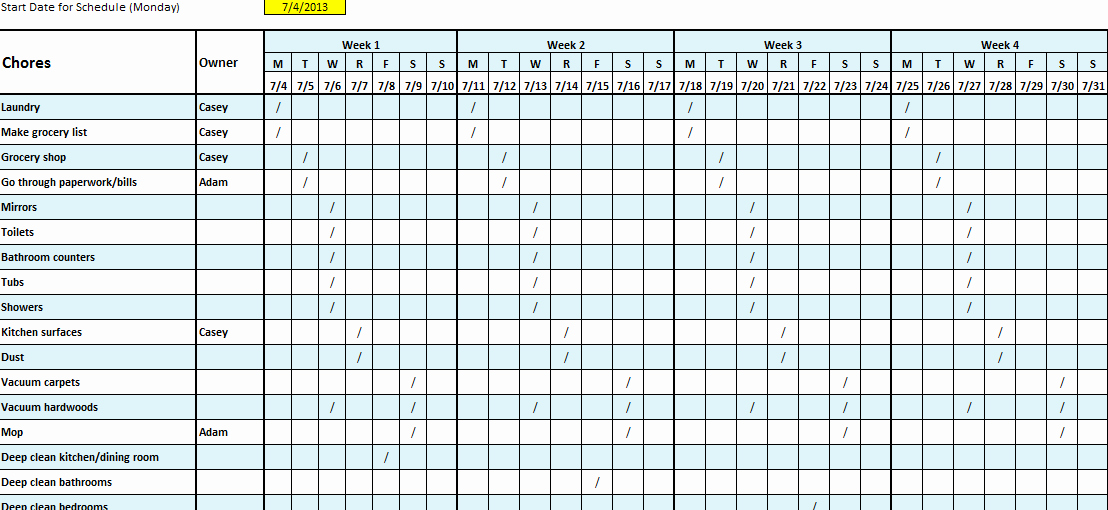 Cleaning Checklist Template Excel Lovely Cleaning Checklist Template Excel