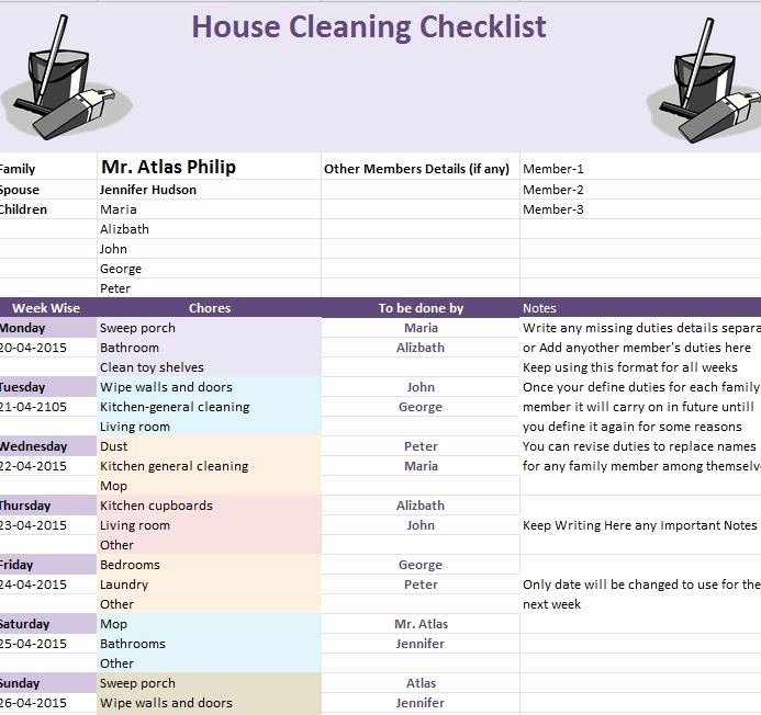 Cleaning Checklist Template Excel Lovely Spring Cleaning Checklist Template