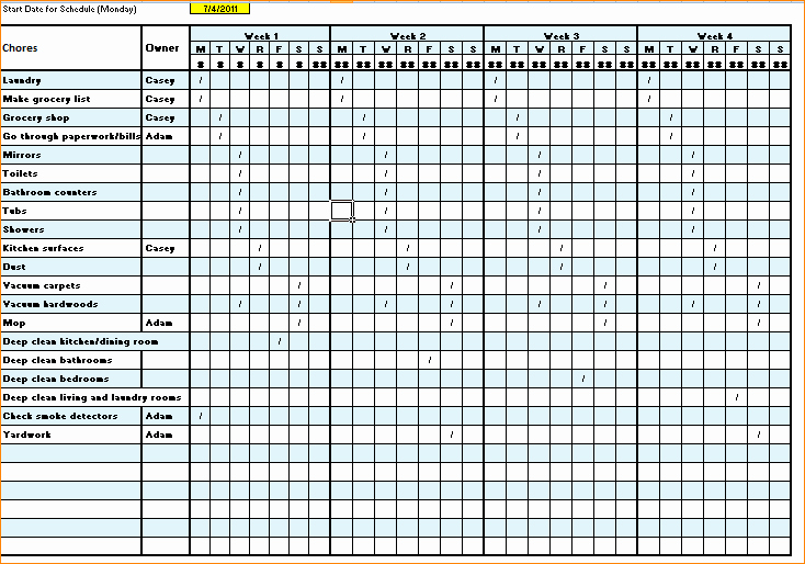 Cleaning Checklist Template Excel New Cleaning Checklist Template Excel