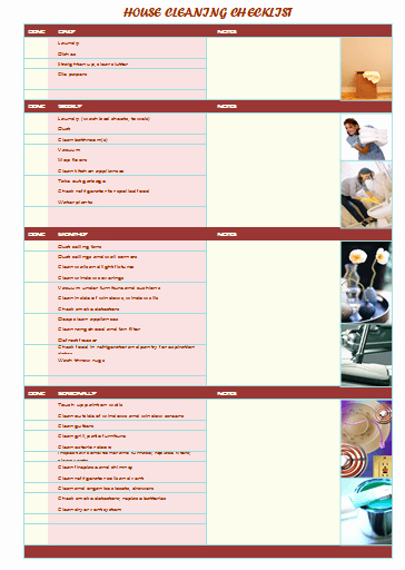 Cleaning Checklist Template Excel Unique House Cleaning Checklist Samples 7 Templates for Best Clean