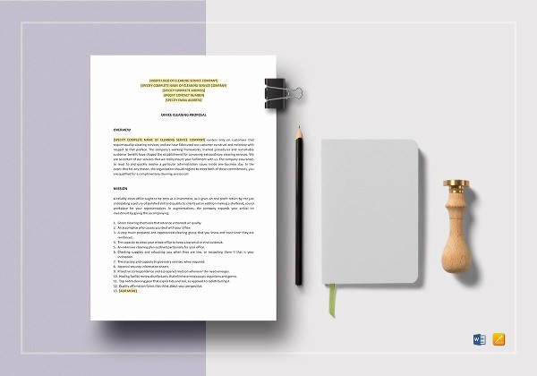 Cleaning Proposal Template Pdf Awesome 16 Cleaning Proposal Templates Pdf Word