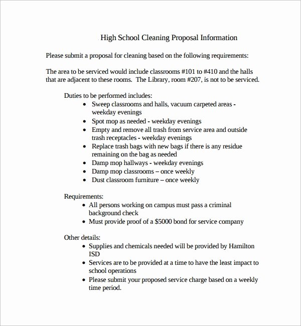 Cleaning Proposal Template Pdf Beautiful 16 Cleaning Proposal Templates Pdf Word